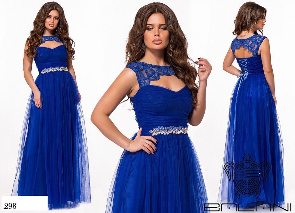 Платье длинное вечернее шнуровка спина масло+евро-сетка 42-46
