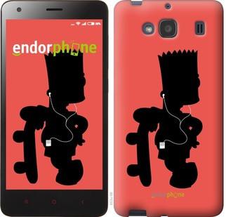 """Чехол на Xiaomi Redmi 2 Барт на красном фоне """"653c-98-571"""""""