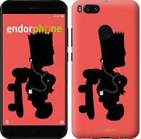 """Чехол на Xiaomi Mi 5X Барт на красном фоне """"653c-1042-571"""""""
