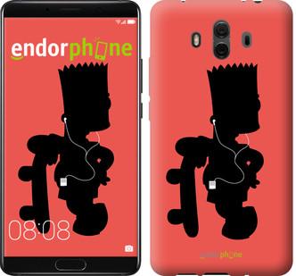 "Чехол на Huawei Mate 10 Барт на красном фоне ""653u-1116-571"""