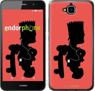 """Чехол на Huawei Y6 Pro Барт на красном фоне """"653c-355-571"""""""