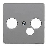 Накладка для широкополюсной модемной коробки Berker B.3/B.7/K.1 Алюминий (14391404)