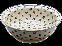 Миска с бортиком / салатник керамический 25 Вlue Florets