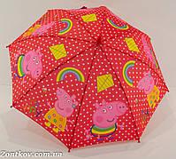 """Детский зонтик трость №129 с изображением свинки """"Пеппа"""" от фирмы """"Rainproof"""""""