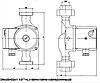 Циркуляційний насос для опалення IMP PUMPS GHN 25/60-180, фото 4