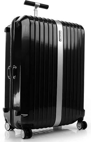 Практичный стильный чемодан из пластика 110 л. Carlton Stark 227J479;01 черный