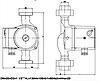 Циркуляційний насос для опалення IMP PUMPS GHN 25/65-130, фото 4