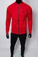 Костюм спортивный мужской PM 8999-06 красный с черным реплика