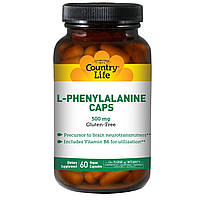 Фенилаланин (L-Phenylalanine) Country Life 500 мг 60 капсул