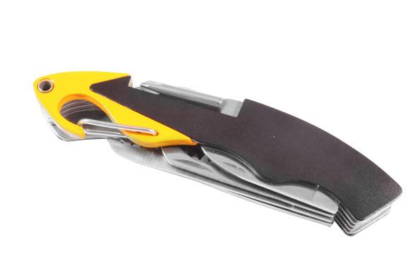 Складной нож Stinger туристический в металлической коробке Черный с желтым (HCY-6125Х)