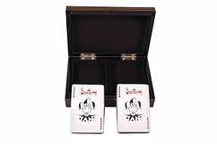 Две колоды карт Duke в деревянной коробке (B11L)