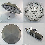 """Женский однотонный зонт автомат с узором изнутри и тефлоновой пропиткой от """"Flagman""""."""