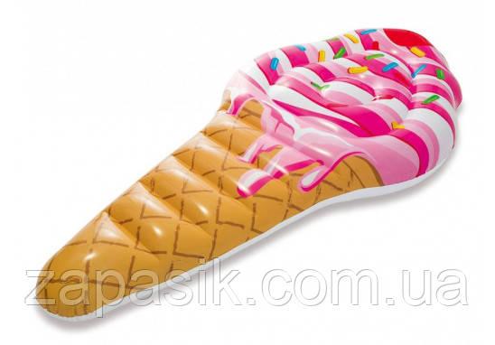 Плотик Intex 58762 Мороженое Рожок Размером 224х107 см От 12 Лет