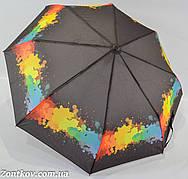 """Женский зонтик полуавтомат с абстрактным узором от фирмы """"SL"""""""