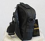 Тактическая универсальная сумка на плечо Silver Knight с системой M.O.L.L.E (102-black), фото 3