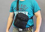 Тактическая универсальная сумка на плечо Silver Knight с системой M.O.L.L.E (102-black), фото 8