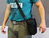 Тактическая универсальная сумка на плечо Silver Knight с системой M.O.L.L.E (102-black), фото 9