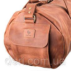 Сумка дорожная Grande Pelle 11047 винтажная кожа Коричневая, Коричневый, фото 3