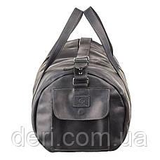 Сумка дорожная Grande Pelle 11046 из винтажной кожи Черная, Черный, фото 3