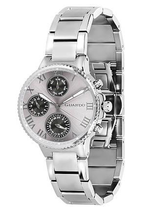 Часы женские Guardo S0503-2 серебряные, фото 2