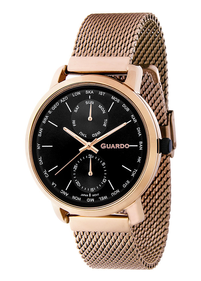 Часы мужские Guardo 11897-5 золотистые