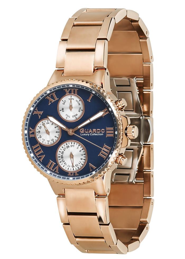 Часы женские Guardo S0503-5 розово-золотые