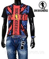 Стильная молодежная мужская футболка черная