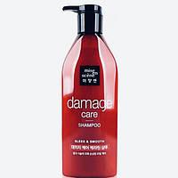 Восстанавливающий шампунь для волос с арганией и пчелиным молочком Mise en Scene Damage Care Shampoo - 680 мл