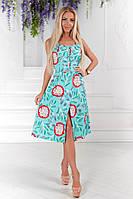 Платье сарафан женский Беби дол ментоловый апельсин