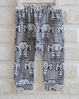 Веселые хлопковые штанишки на малышей. Унисекс. Размер: 12 мес