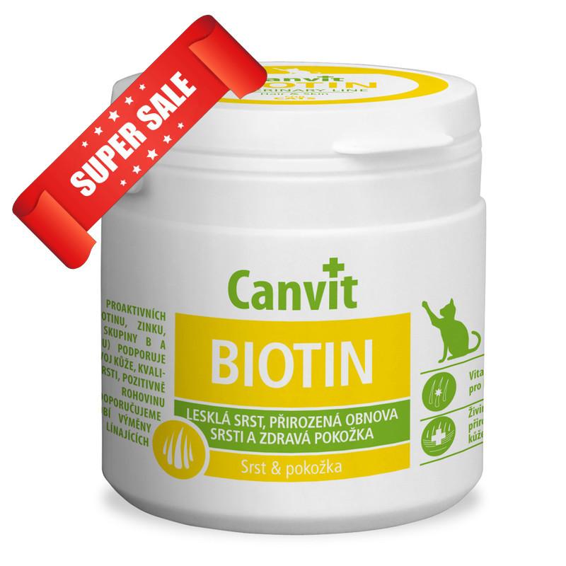 Витамины для котов Canvit Biotin 100 г