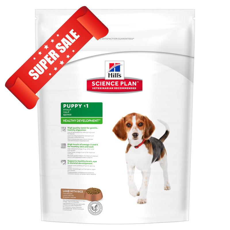 Сухой корм для собак Hill's Science Plan Canine Puppy Healthy Development Medium Lamb & Rice 1 кг
