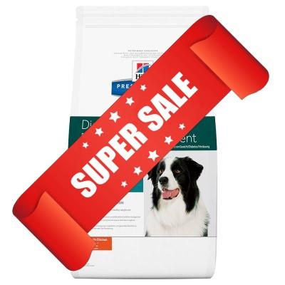 Лечебный сухой корм для собак Hill's Prescription Diet Canine Digestive/Weight/Diabetes Management w/d 12 кг