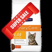 Лечебный сухой корм для котов Hill's Prescription Diet Feline c/d Multicare Chicken 0,4 кг