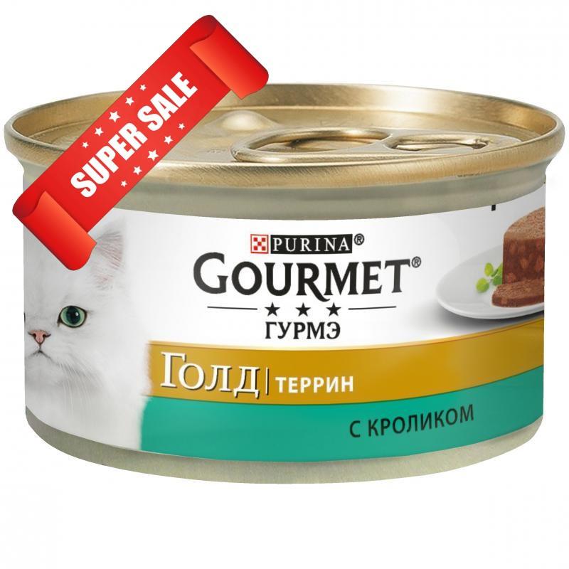 Влажный корм для кошек Purina Gourmet Gold Террин с кроликом 85 г