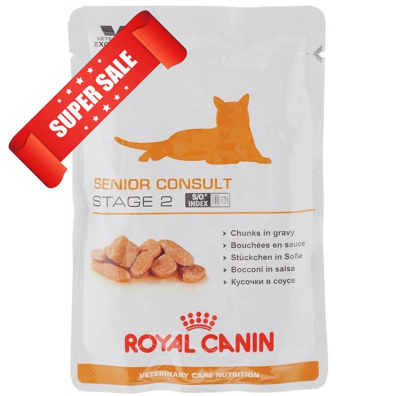 Влажный корм для котов Royal Canin Senior Consult Stage 2 100 г