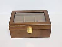 Деревянная шкатулка для часов Швейцария на 3 отделения
