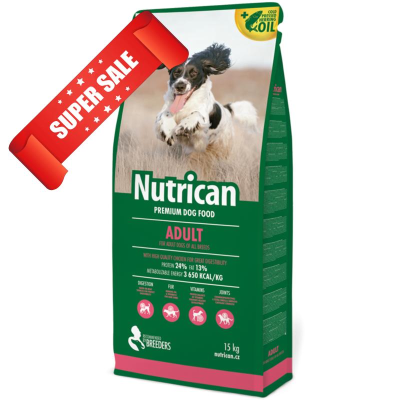Сухой корм для собак Nutrican Adult 15 кг