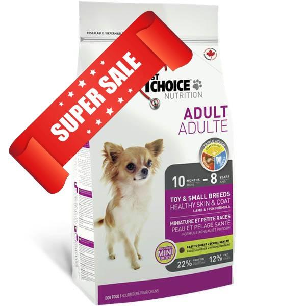 Сухой корм для собак 1st Choice Toy & Small Breeds Healthy Skin & Coat Adult 0,35 кг