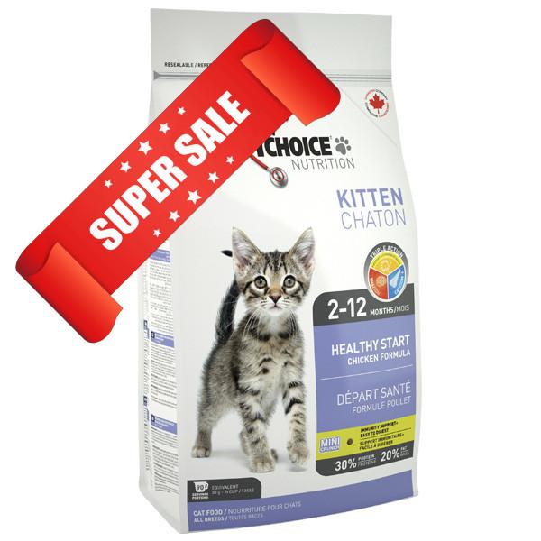 Сухой корм для котов 1st Choice Healthy Start Kitten 2,72 кг
