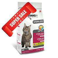 Сухой корм для котов 1st Choice Sterilized 2,4 кг