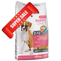 Сухой корм для собак 1st Choice Sensitive Skin & Coat All Breeds Puppy 2,72 кг