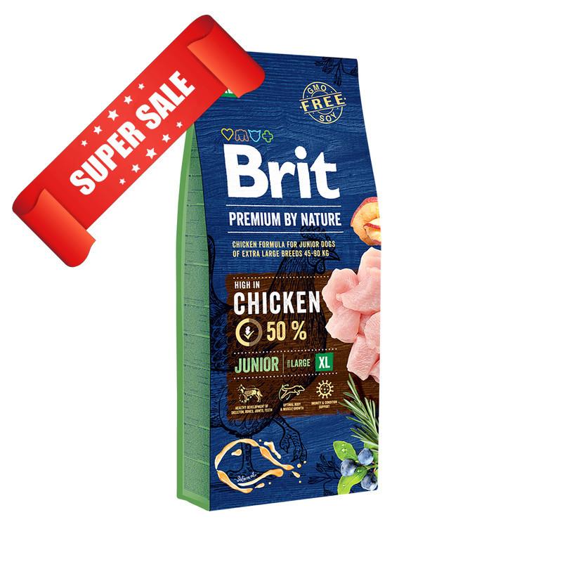 Сухой корм для собак Brit Premium Junior XL Chicken 15 кг