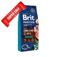 Сухой корм для собак Brit Premium Sensitive Lamb & Rice 8 кг