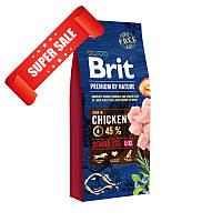 Сухой корм для собак Brit Premium Senior L+XL Chicken 15 кг