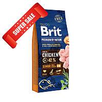 Сухой корм для собак Brit Premium Senior S+M Chicken 8 кг