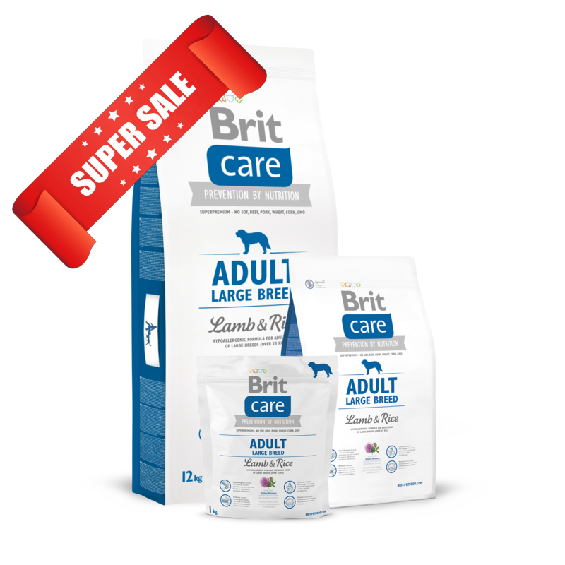 Сухой корм для собак Brit Care Adult Large Breed Lamb & Rice 1 кг