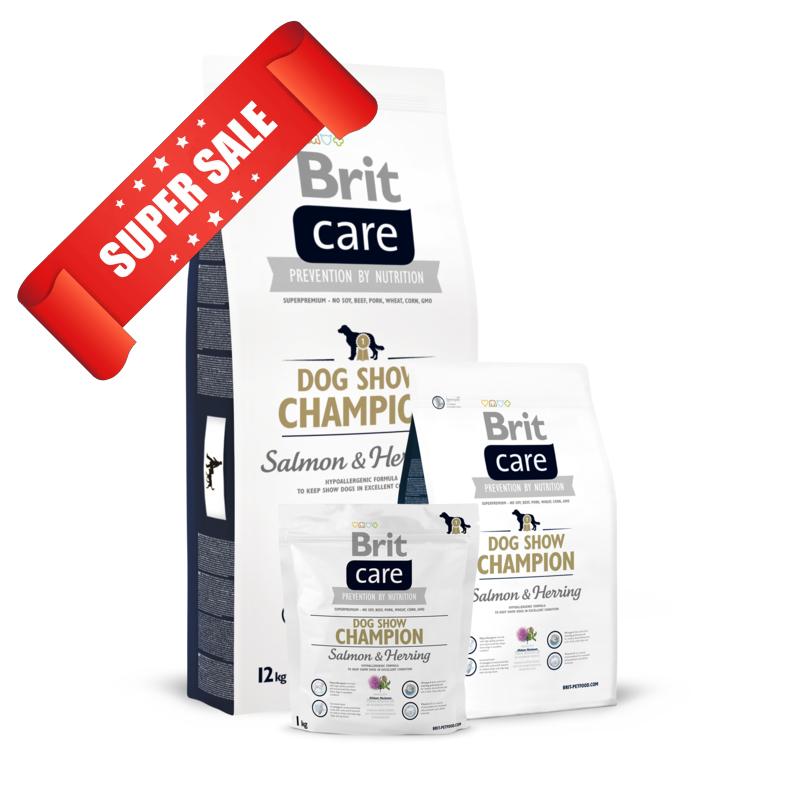 Сухой корм для собак Brit Care Dog Show Champion Salmon & Herring 1 кг