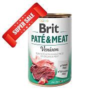 Влажный корм для собак Brit Pate & Meat Venison 400 г
