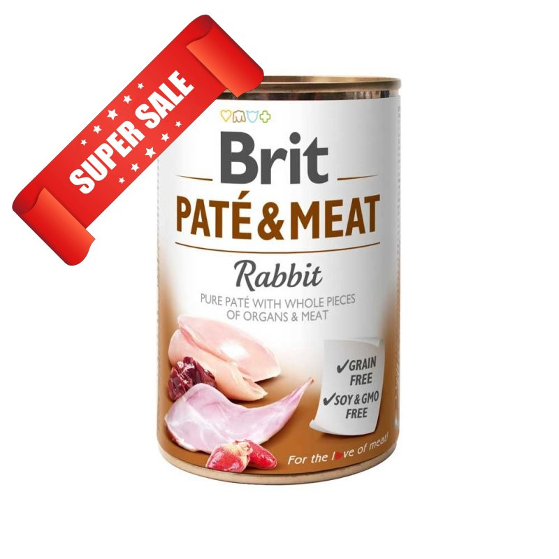Влажный корм для собак Brit Pate & Meat Rabbit 400 г